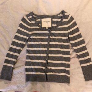 Abercrombie Cardigan stripe size M